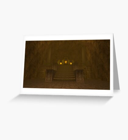 Fire Temple entrance from The Legend of Zelda: Ocarina of Time Greeting Card