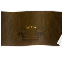Fire Temple entrance from The Legend of Zelda: Ocarina of Time Poster