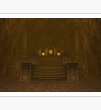 Fire Temple entrance from The Legend of Zelda: Ocarina of Time Sticker
