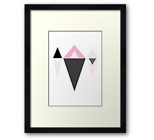 Triangle Reflections Framed Print