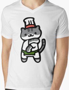 Guy Furry - Neko Atsume Mens V-Neck T-Shirt