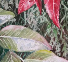 Tropical Foliage Watercolour Painting Sticker