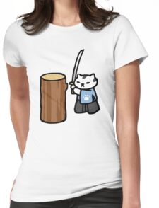 Mr Meowgi - Neko Atsume Womens Fitted T-Shirt
