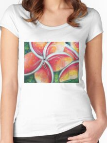 """""""Tropical Spirit"""" Women's Fitted Scoop T-Shirt"""