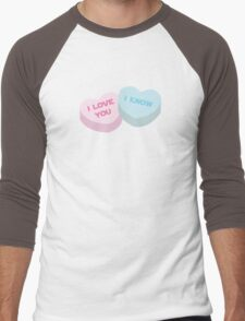 I love you... I know. Men's Baseball ¾ T-Shirt