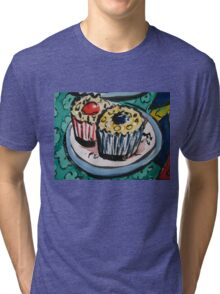 Tea for Three - Cup Cake Section  Tri-blend T-Shirt