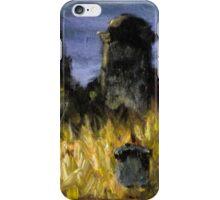 Abandoned graveyard at night iPhone Case/Skin