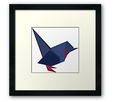 ORIGAMI BIRD VECTOR Framed Print