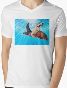 """Aloha Spirit"" by Christie Marie Mens V-Neck T-Shirt"