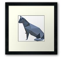 ORIGAMI CAT VECTOR Framed Print