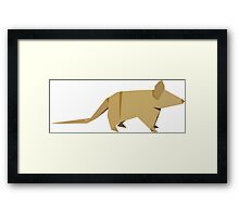 ORIGAMI MOUSE Framed Print