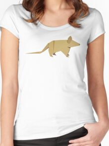 ORIGAMI MOUSE Women's Fitted Scoop T-Shirt