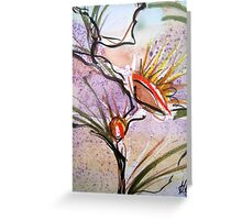 Bush Flowers 3 section  Greeting Card