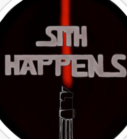 Sith Happens With Darth Vader Saber Sticker