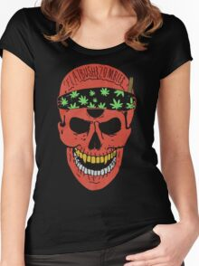 Flatbush Zombies Red Skull Tee Women's Fitted Scoop T-Shirt