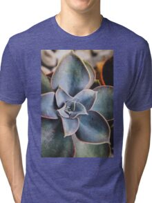 close up of succulent Tri-blend T-Shirt