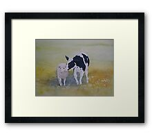 Best of Friends Watercolour Painting Framed Print