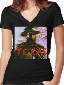 ^ W E S T E R N ^ T. V. ^ Women's Fitted V-Neck T-Shirt