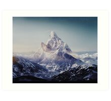 Highest mountain Art Print