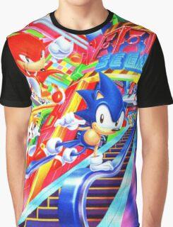 Sonic the Hedgehog in Joypolis Graphic T-Shirt