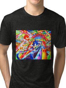 Sonic the Hedgehog in Joypolis Tri-blend T-Shirt
