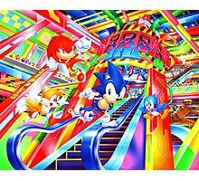Sonic the Hedgehog in Joypolis Photographic Print