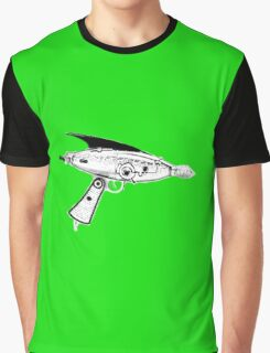 RETRO ASTRO RAYGUN SPACE Science Fiction Graphic T-Shirt