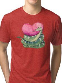 Valentines Snake Tri-blend T-Shirt