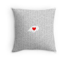 Romeo and Juliet: Juliet's Monologue in Binary  Throw Pillow