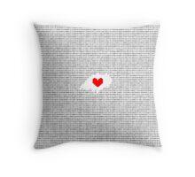 Romeo and Juliet: Juliet's Monologue in Binary  Throw Pillow