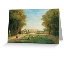 JULES-CHARLES ROZIER ; PROMENADE IN THE VERSAILLES PARK  Greeting Card
