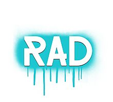 Rad Simple Graffiti Drip Photographic Print