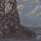 cave at seal rock by resonanteye