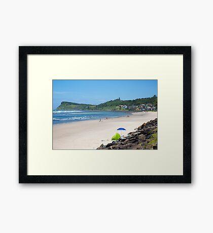 Lennox Head Seven Mile Beach in New South Wales,Australia Framed Print