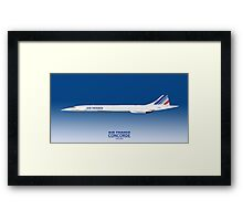 Air France Concorde Framed Print