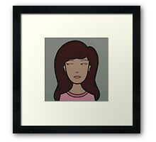 Raw Daria Framed Print