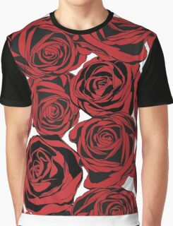 Pattern with red roses Graphic T-Shirt