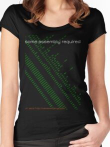 Some assembly required (arm) Women's Fitted Scoop T-Shirt