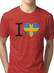 I Love Sweden Tri-blend T-Shirt