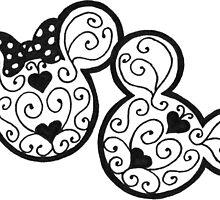 Mickey & Minnie by SinDotDee