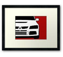 Mitsubishi Lancer Evo - Zoom Close Up Left Side Corner Edge - Sticker / Case Design Framed Print