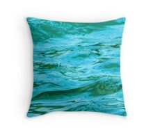 Green Water Painting Throw Pillow