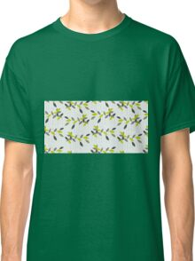 Abstract pattern with green leaf. Classic T-Shirt