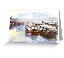 House-boat in Thailand Greeting Card