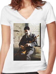 Eamon Ceannt 1881-1916 Women's Fitted V-Neck T-Shirt