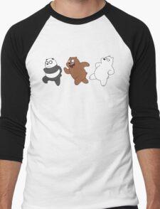 We Bare Bears Sneaking Men's Baseball ¾ T-Shirt