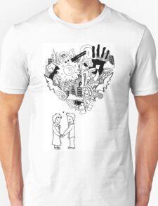 too much heart Unisex T-Shirt