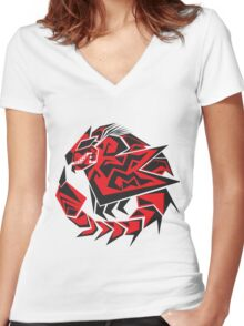 Monster Hunter - Rathalos Women's Fitted V-Neck T-Shirt