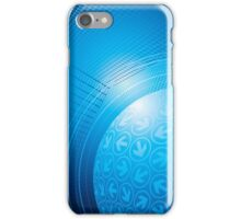 Blue Abstract Background iPhone Case/Skin