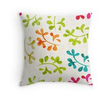 Floral pattern with cute leaves Throw Pillow